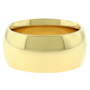 18k Yellow Gold 10mm Comfort Fit Dome Wedding Band Super Heavy Weight