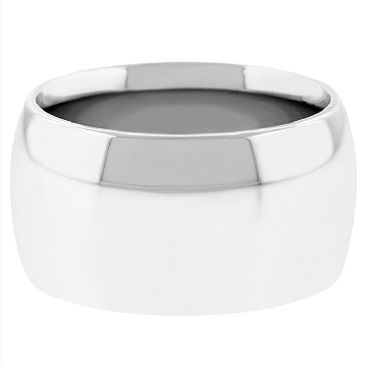 Platinum 950 12mm Comfort Fit Dome Wedding Band Super Heavy Weight