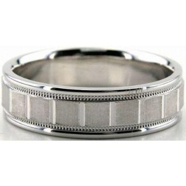 14K Gold 6.5mm Diamond Cut Wedding Band 692