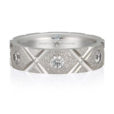 14K Gold 5mm Diamond Wedding Bands Rings XO Design 0.48ctw.