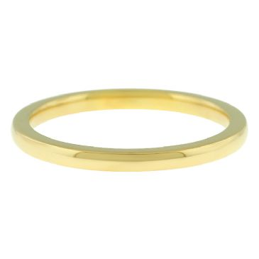 18k Yellow Gold 2mm Comfort Fit Dome Wedding Band Heavy Weight