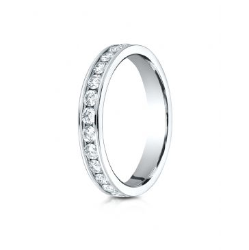 14k White Gold 3mm Channel Set  Eternity Ring