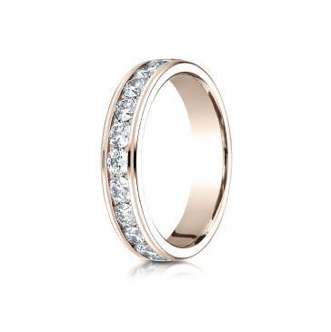 14k ROSE GOLD 4MM Channel Set  Eternity Ring.