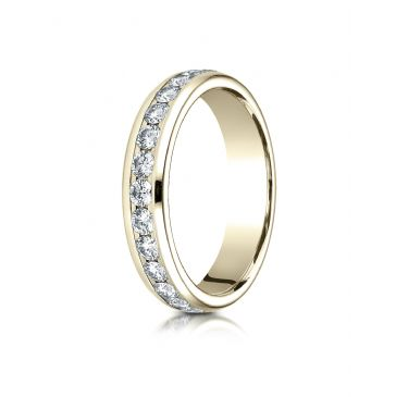 18K YELLOW GOLD 4MM Channel Set  Eternity Ring.