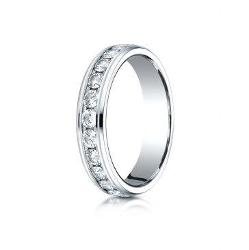18K White Gold 4MM Channel Set  Eternity Ring.