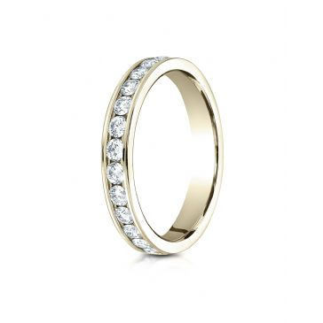14k YELLOW GOLD 3mm Channel Set  Eternity Ring.