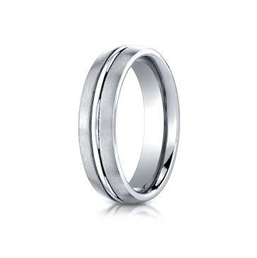 Cobaltchrome 6mm Comfort-Fit Satin-Finished Design Ring