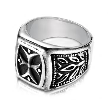 Cobaltchrome 9mm Fancy Blackened Ring