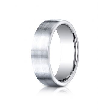 Cobaltchrome 7.5mm ComfortFit Satin-Finished Design Ring