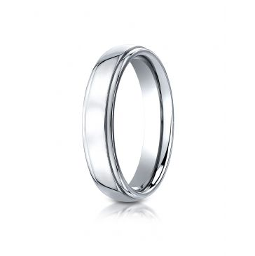 Cobaltchrome 5mm Comfort-Fit High Polished Design Ring