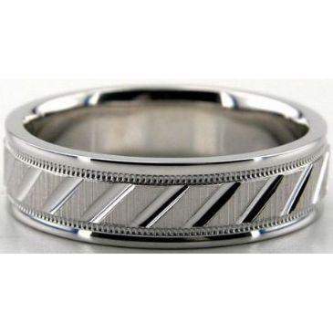 14K Gold 6.5mm Diamond Cut Wedding Band 691