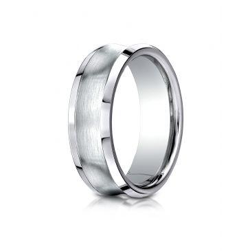 Cobaltchrome 7.5mm Comfort-Fit Satin-Finished Concave Design Ring