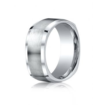 Cobaltchrome 9mm Comfort-Fit Satin-Finished Four-Sided Design Ring