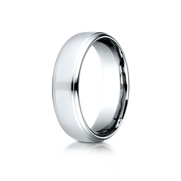 Palladium 6.5mm Comfort-Fit Drop Edge High Polish Design Band