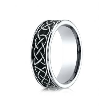 Cobaltchrome 7mm Comfort Fit Celtic Knot Ring