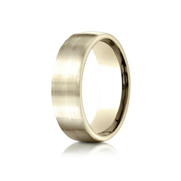14k Yellow Gold 7.5mm Comfort-Fit  Satin Finish Design Band