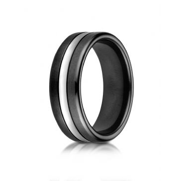 Cobaltchrome 7mm Comfort-Fit Blackened-Satin with a high polish center cut