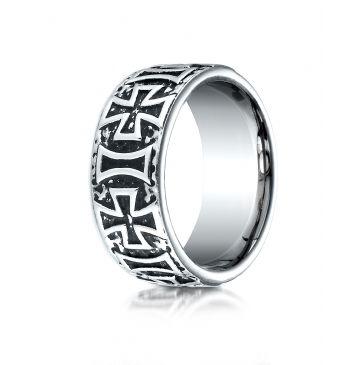 Cobaltchrome 9mm Comfort-Fit Maltese Cross Design Ring