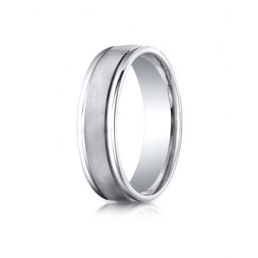 Cobaltchrome 6mm Comfort-Fit Satin-Finished Round Edge Design Ring