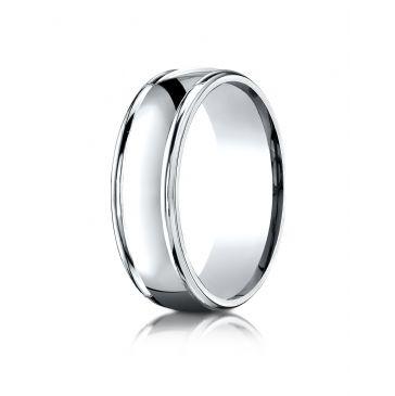 Platinum 7mm Comfort-Fit  high polish finish round edge Design band