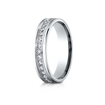 14k White Gold 4mm Comfort-Fit Channel Set  Diamond Eternity Ring.