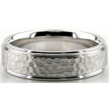 14K Gold 6mm Diamond Cut Wedding Band 634
