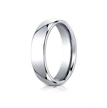 Cobaltchrome 6mm Comfort-Fit High Polished Design Ring