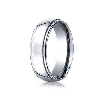 Cobaltchrome 7mm Comfort-Fit High Polished Design Ring