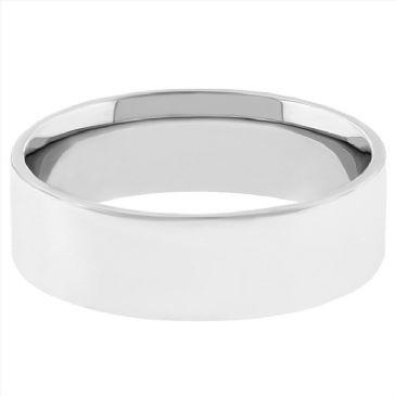 Platinum 950 5mm Flat Wedding Band Medium Weight