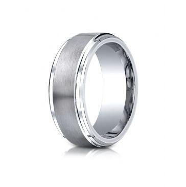 Cobaltchrome 9mm Comfort-Fit Satin-Finished Step Edge Design Ring