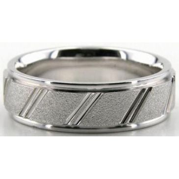 14K Gold 6.5mm Diamond Cut Wedding Band 615