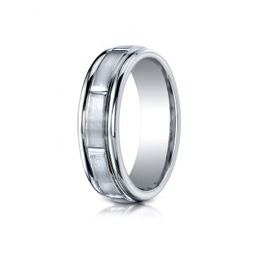 Cobaltchrome 7mm Comfort-Fit Satin-Finished Round Edge Design Ring
