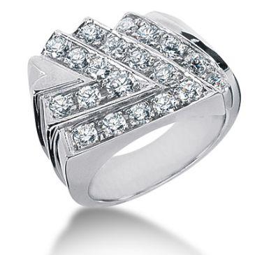 14K White Gold Arrow Design Diamond Anniversary Ring (1.47ctw.)