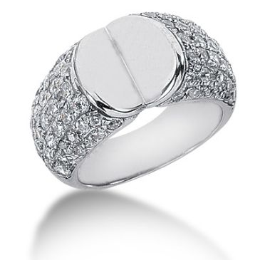 14K Open Faced Round Brilliant Diamond Anniversary Ring (1.70ctw.)