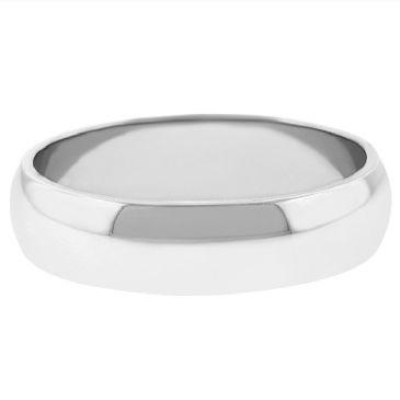 Platinum 950 5mm Dome Wedding Band Medium Weight
