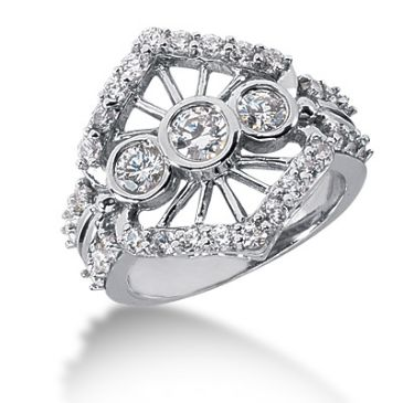 14K White Gold Butterfly Diamond Anniversary Ring (1.45ctw.)