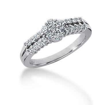 14K Round Brilliant Diamond Anniversary Ring (0.45ctw.)