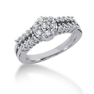 14K Small Diamonds Round Brilliant Anniversary Ring (0.67ctw.)