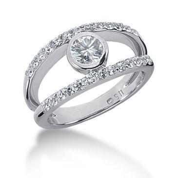 14K Split Round Brilliant Diamond Anniversary Ring (0.77ctw.)