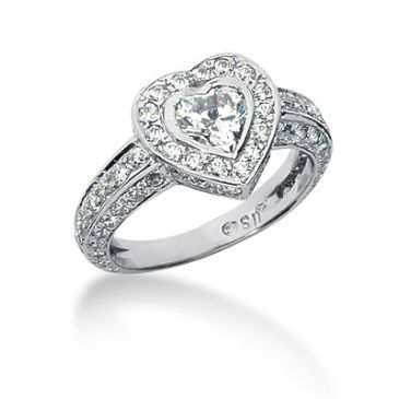 14K Love is in the Air, Heart Cut Diamond Anniversary Ring (2.32ctw.)