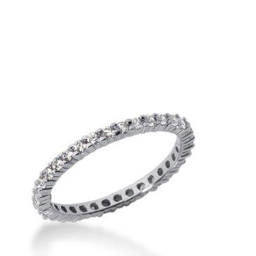 14k Gold Diamond Eternity Wedding Bands, Shared Prong Setting 0.50 ct. DEB1001514K