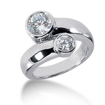 18K Diverse Round Brilliant Diamond Anniversary Ring (1.5ctw.)