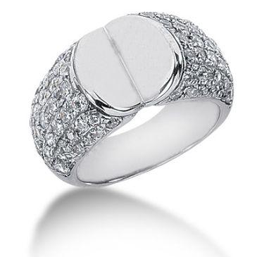 18K Open Faced, Round Brilliant Diamond Ring (1.70ctw.)