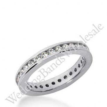14k Gold Diamond Eternity Wedding Bands, Channel Setting 0.50 ct. DEB421214K