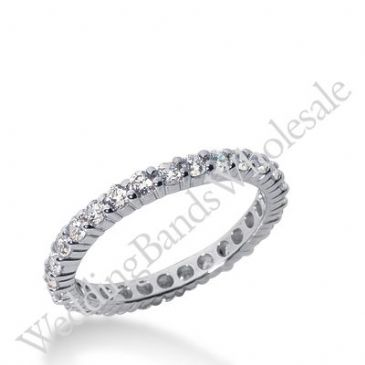 14k Gold Diamond Eternity Wedding Bands, Shared Prong Setting 1.00 ct. DEB100314K