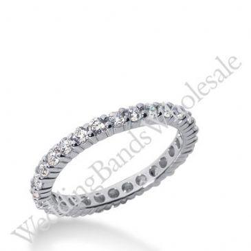 14k Gold Diamond Eternity Wedding Bands, Shared Prong Setting 1.00 ct. DEB100314K