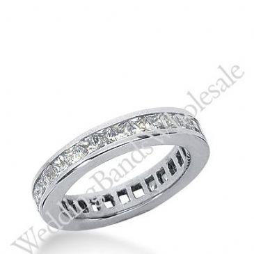 14k Gold Diamond Eternity Wedding Bands, Channel Setting 1.50 ct. DEB160114K