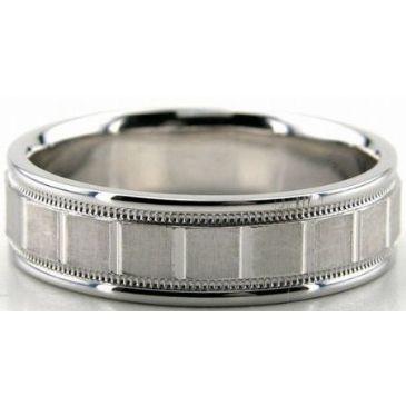 14K Gold 7mm Diamond Cut Wedding Band 693