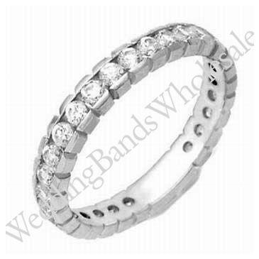 14k Gold Diamond Eternity Wedding Bands, Box Setting 1.00 ct. DEB00114K