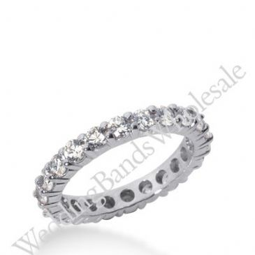 14k Gold Diamond Eternity Wedding Bands, Shared Prong Setting 2.00 ct. DEB1001014K